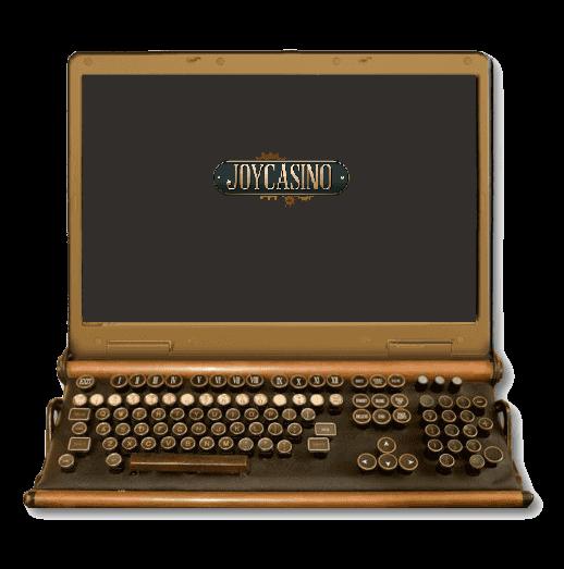 Джойказино на ноутбуке